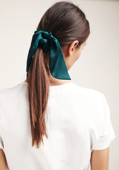 Marzoline scrunchies seta verde