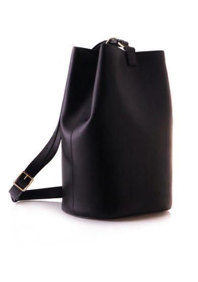 Officina del poggio borsa secchiello grande nera pelle