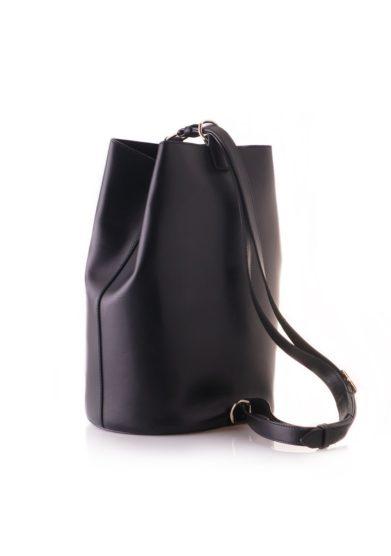 Officina del poggio borsa con tracolla secchiello pelle nera