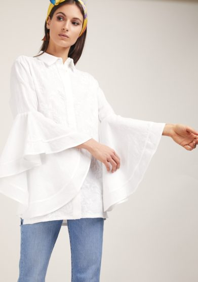 Camicia bianca manica ampia soloblu