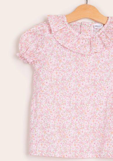 Baroni camicia bambina liberty rosa
