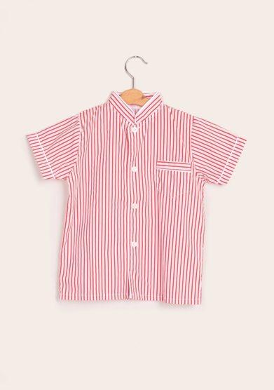I marmottini pigiama cotone righe rosse
