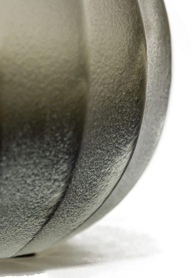 Vaso vetro grigio argento micheluzzi glass