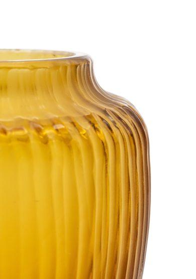 Micheluzzi glass vaso goccia piccolo caramello