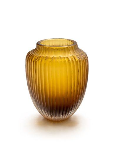 Vaso micheluzzi glass vetro murano caramello