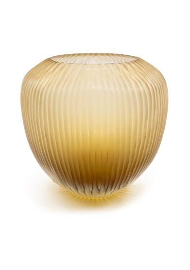 Vaso vetro di murano color oro micheluzzi glass