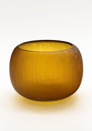 Micheluzzi glass vaso puffo miele