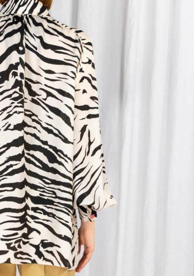 Camicia vernisse seta fantasia zebrata