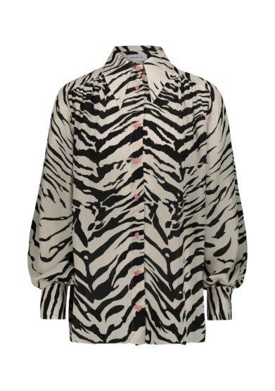 Camicia in seta fantasia zebrata vernisse