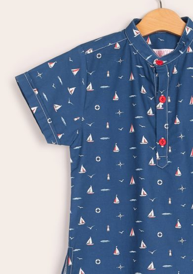 Camicia bimbo coreana mezza manica i marmottini