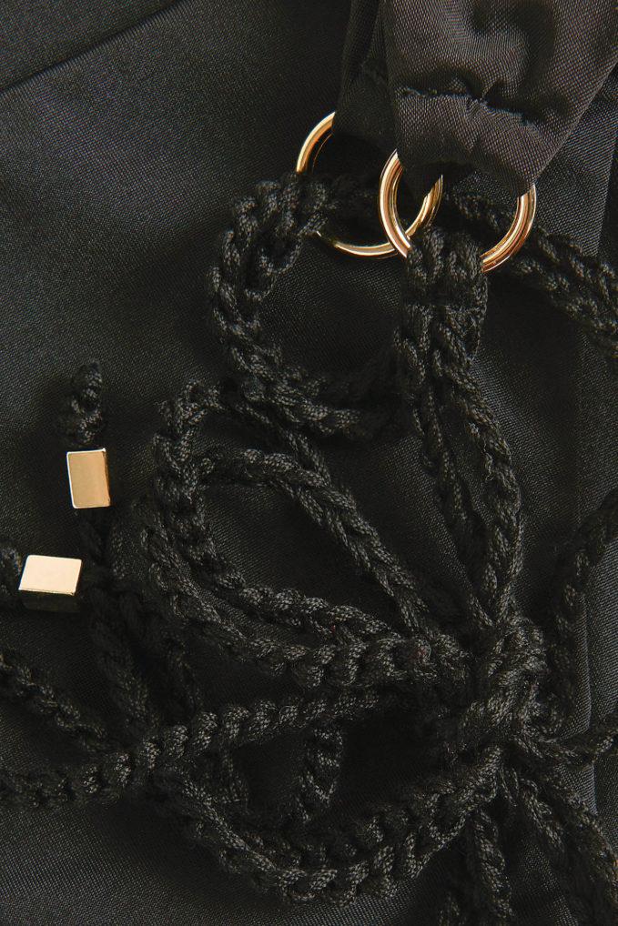 Slip alba bolamì laccetti crochet nero