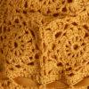 Triangolo alba crochet senape bolamì