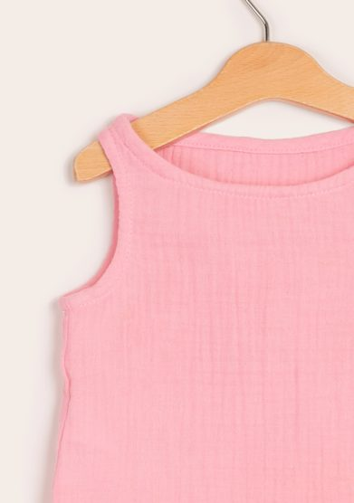 Depetit canotta bambina mussola cotone rosa