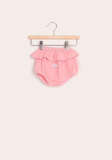 Depetit culotte con rouche mussola di cotone rosa