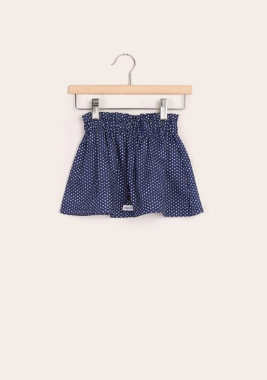 Depetit gonna bambina in cotone blu fantasia stelle