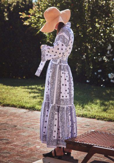 Abito madame pauline vintage kimono fantasia bandana bianco