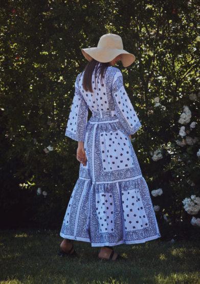 Vestito bandana blu kimono madame pauline vintage