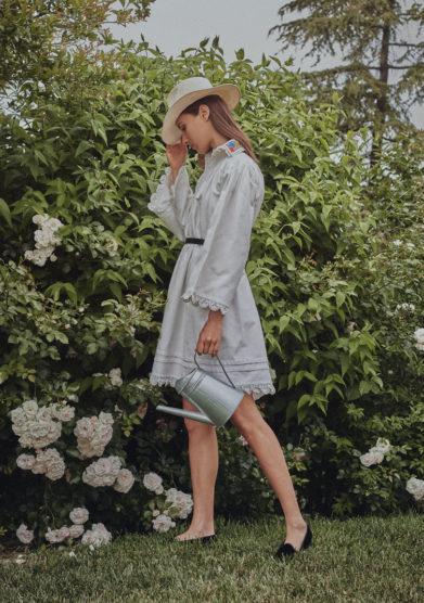 Madame pauline vintage abito uncinetto e collo perline