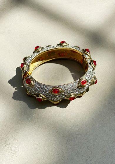 Madame pauline vintage bracciale rigido kennet jay lane rosso