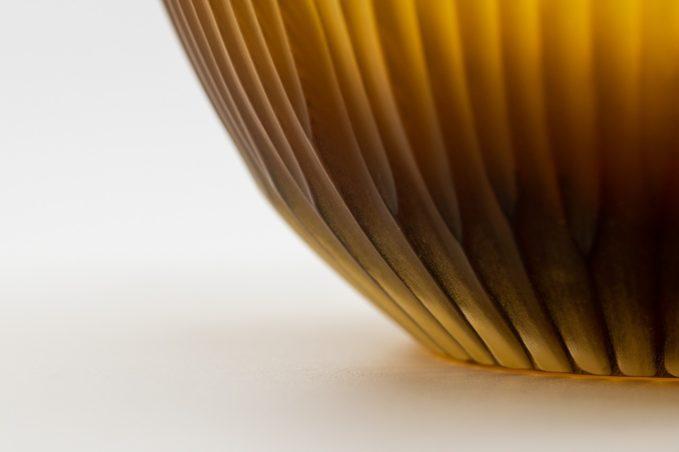 Micheluzzi glass vaso goccia miele