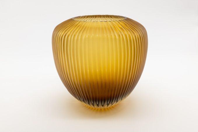 Vaso grande goccia miele micheluzzi glass