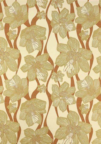 Paravento legno rivestito tessuto floreale miel monica gasperini