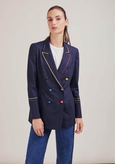 Nasco Unico blazer doppiopetto tuxedo light bottoni colorati