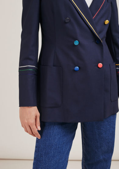Nasco Unico blazer tuxedo light lana bottoni colorati