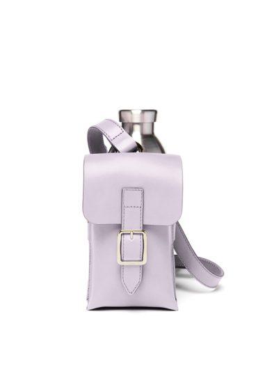 Officina del poggio bottle bag pelle lilla