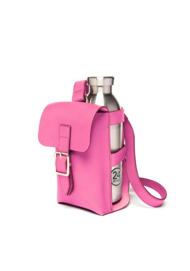 Bottle bag rosa orchidea officina del poggio