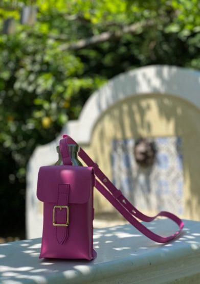 Palazzo avino borsa bottle bag rosa officina del poggio