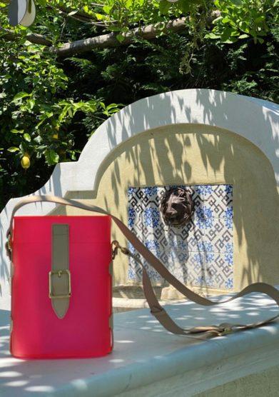 Palazzo avino borsa mini safari fluo officina del poggio