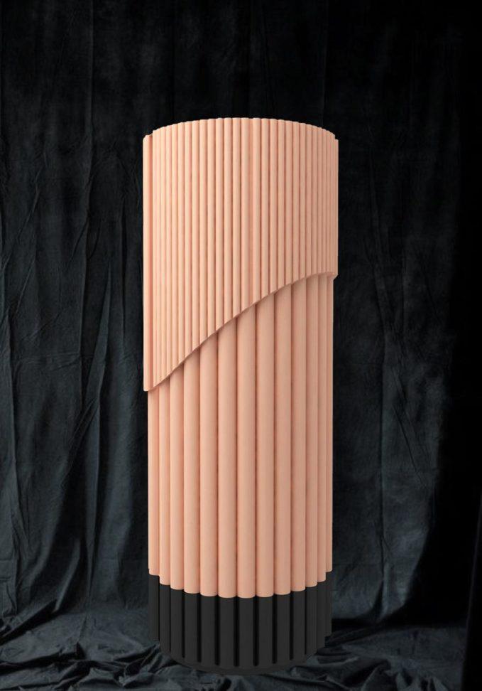 Plissé Cabinet cilindrico