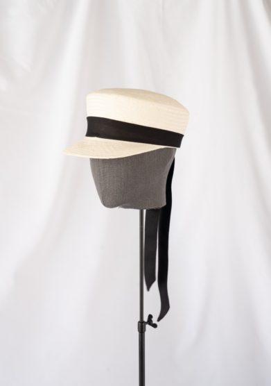 Anperfect cappello baker boy con tesa piccola in paglia avorio