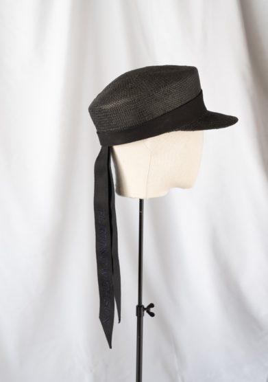 Anperfect cappello baker boy in paglia nero