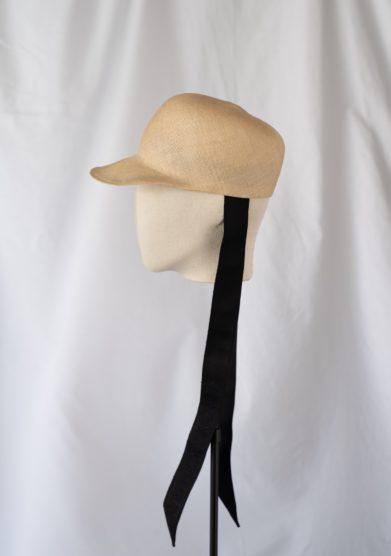Anperfect cappello baseball in paglia naturale con fiocchi