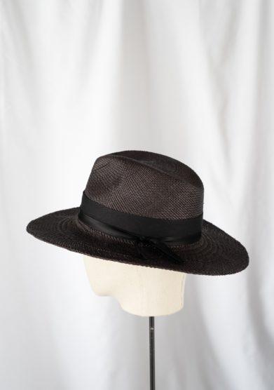 Anperfect cappello fedora panama nero estelle