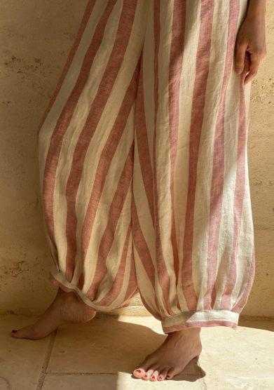 Bottega egnazia pantalone ampio a righe