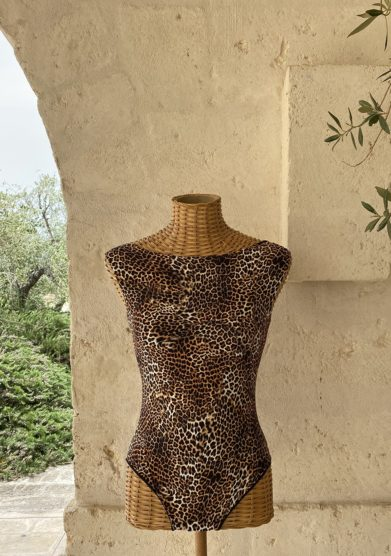 Costume intero bottega egnazia leopardato