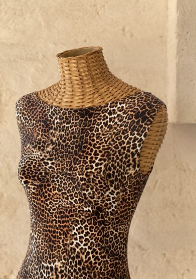 Bottega egnazia costume intero leopardato noa