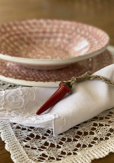 Bottega egnazia peroncino portatovagliolo in ceramica