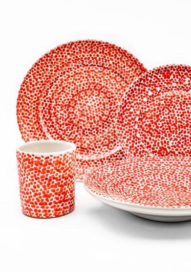 Bottega egnazia set da tavola in ceramica quattro pezzi