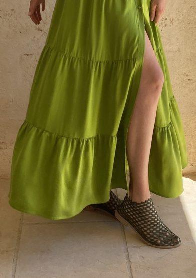 Bottega egnazia stivaletto estivo rete verde