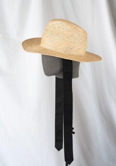 Cappello fedora Estelle in paglia naturale con nastri