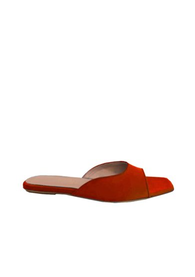Scarpa bassa gia couture sabot lily open toe marrone