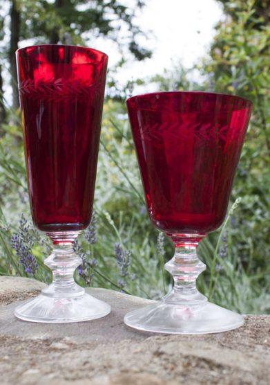Il borro flute e bicchiere vino cheoma rossi