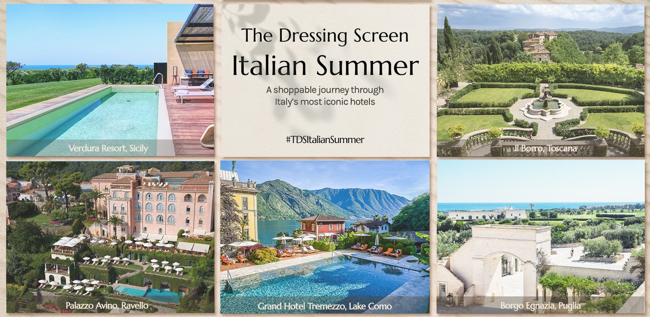 Palazzo Avino Grand Hotel Tremezzo Borgo Egnazia Il Borro Verdura Resort TDS Italian Summer