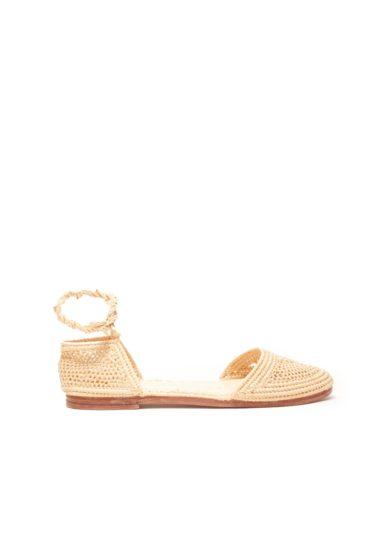 Laalouj sandalo marta rafia crochet naturale