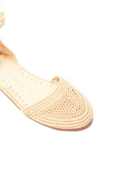 sandalo marta rafia crochet naturale laalouj