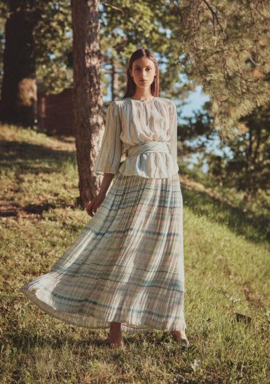 blusa gonna e stola valentino anni settanta madame pauline vintage